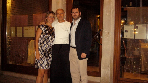Chad and Sasha with master chef/owner Gianni Bonaccorsi