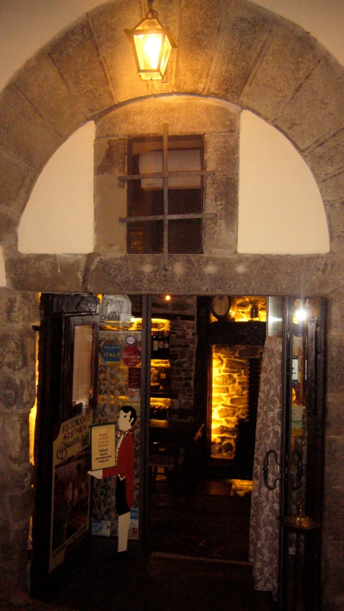 Entrance to Hostaria La Bucaccia