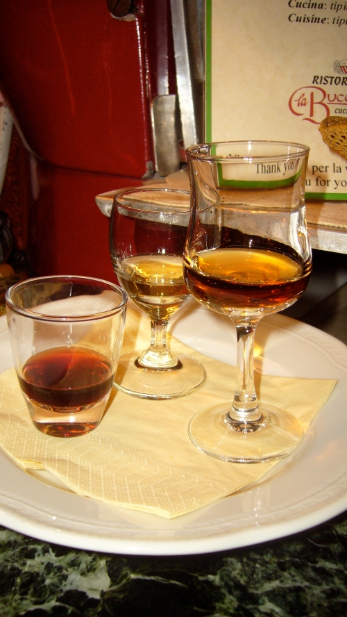 Vin Santo 3 ways, all of them delicious